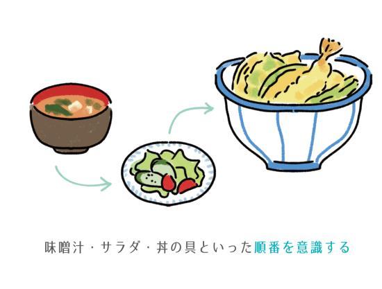 丼ものは味噌汁から食べる