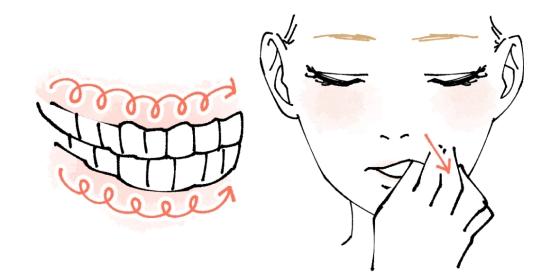 歯磨きや歯茎マッサージ2114