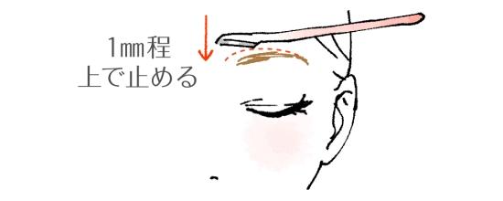 眉毛上部の剃り方01305