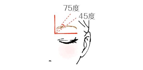 自然な眉毛をつくる眉頭の剃り方01306