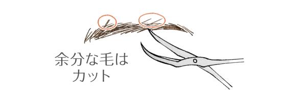 眉毛の整え方32154