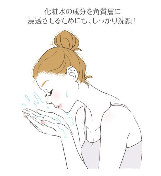 洗顔して肌を綺麗にする