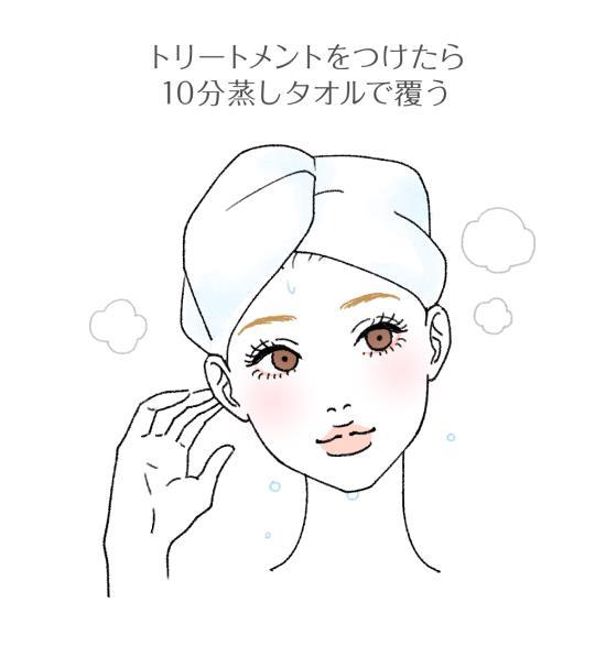 ヘアパックに蒸しタオルを使う方法