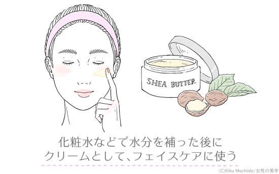 シアバターをスキンケアクリームとして使う