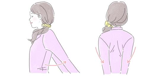 肩甲骨のストレッチ52397