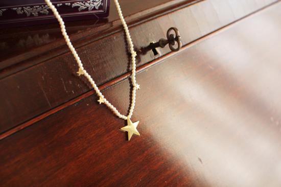 星のネックレスの作り方手順写真