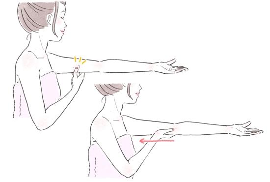 二の腕のリンパマッサージ13416