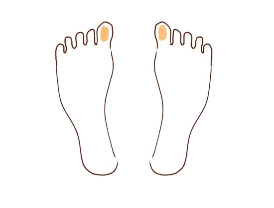 足の親指をマッサージ1104110