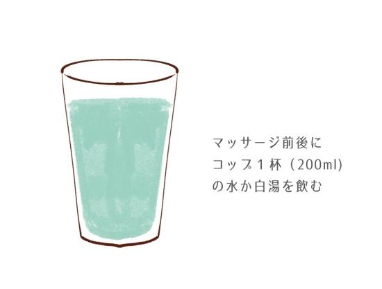 コップ1杯(200ml程度)の水か白湯を飲む1104118