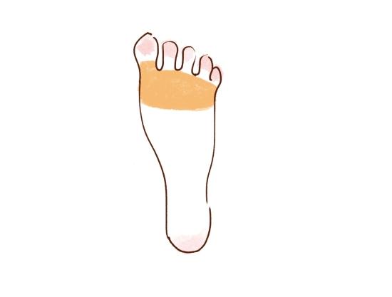 足の指の付け根をマッサージ11047