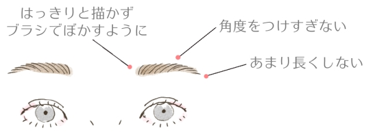 ナチュラルな眉毛の書き方 103237