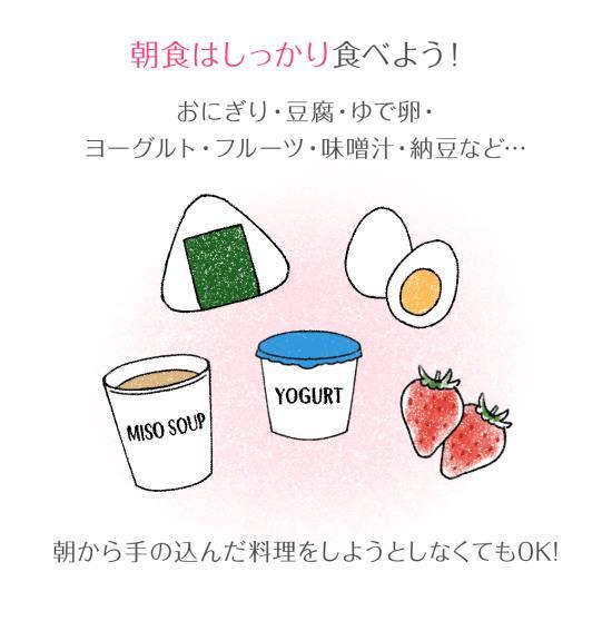 簡単に食べられる朝食