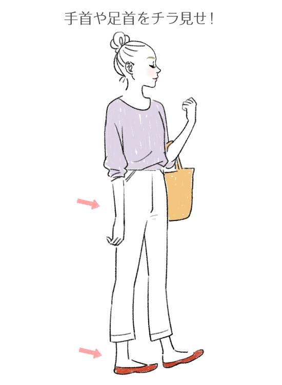 スタイルよく見せるファッション