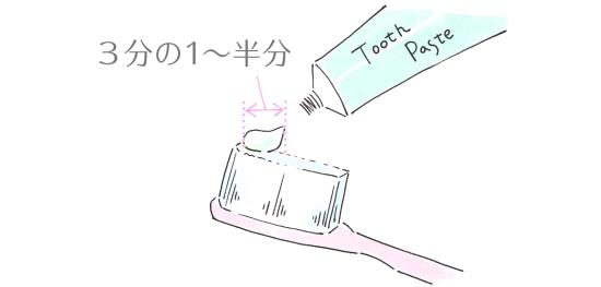 歯磨き粉の使用量