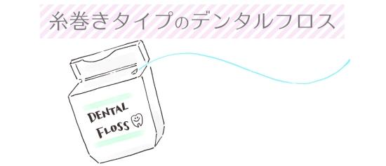 糸巻きタイプのデンタルフロス