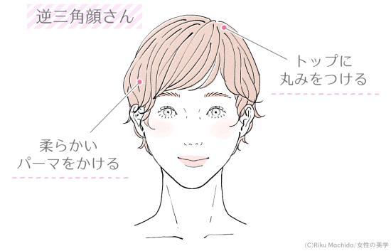 逆三角顔さんに似合うショートスタイル