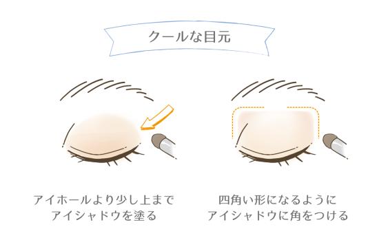 クールな目元の作り方