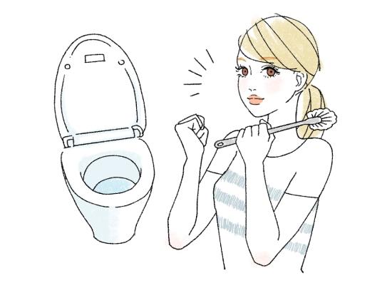 トイレ掃除も消費カロリーが高い