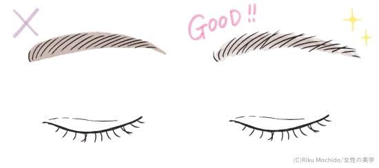 自然な眉毛