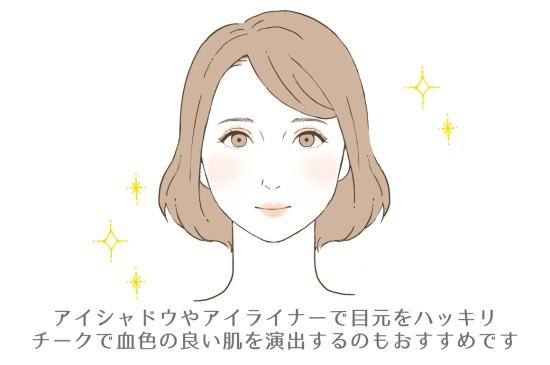 女顔×薄顔さんにおすすめのメイク14198