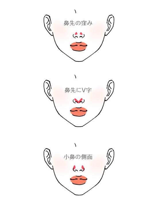 団子鼻を小さく見せる方法