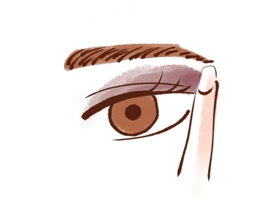 黒目の外側からぼかす