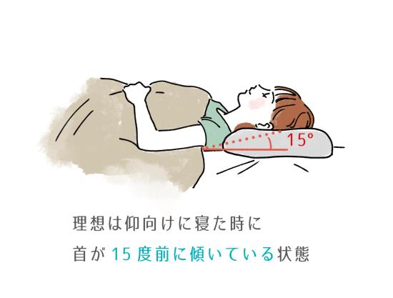 枕の高さの注意点