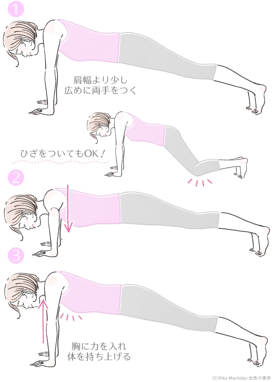 プッシュアップトレーニング