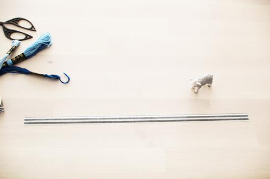 マステでリボン風ラッピングの手順写真