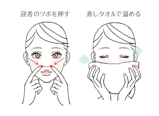唾液を出すための鼻づまり解消法1
