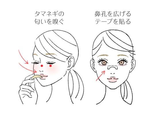 唾液を出すための鼻づまり解消法2