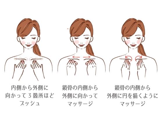 鎖骨のリンパを流すマッサージの方法