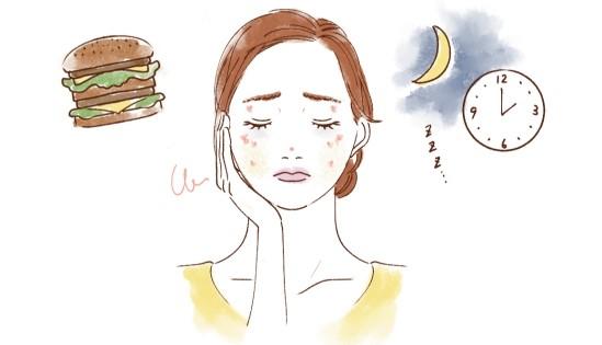 睡眠不足など生活習慣の乱れ