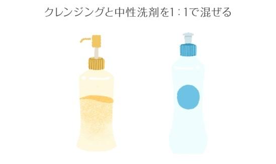 クレンジングと中性洗剤