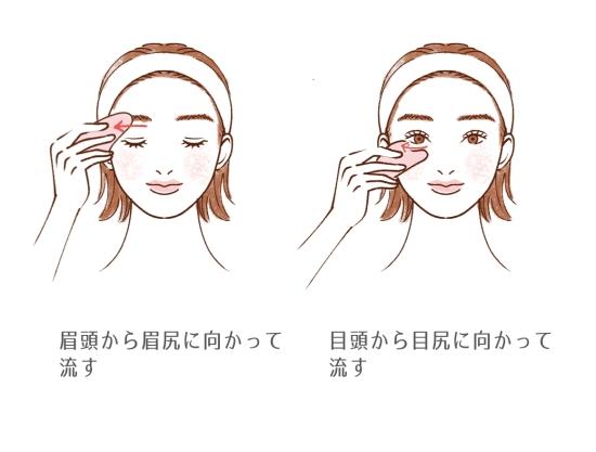 かっさで顔のむくみをとる方法2