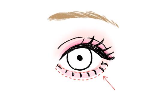 下瞼のハイライトの入れ方