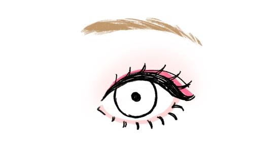 目のキワにメインカラー