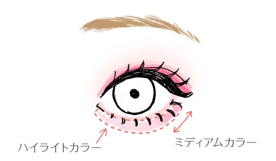 奥二重の下瞼