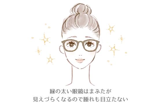 メガネでごまかす