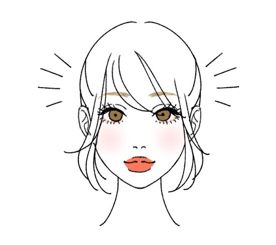 逆三角形に合う髪型