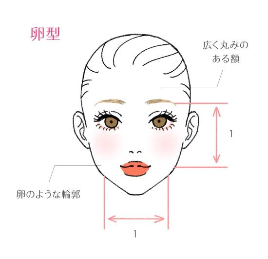 卵型の顔の特徴