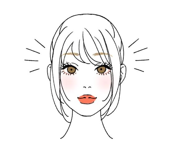 面長の顔にオススメの前髪