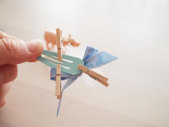 パッチンピンの作り方の手順写真
