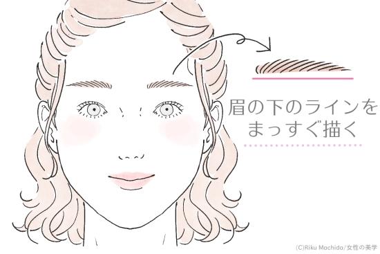 ハンサム眉毛の書き方