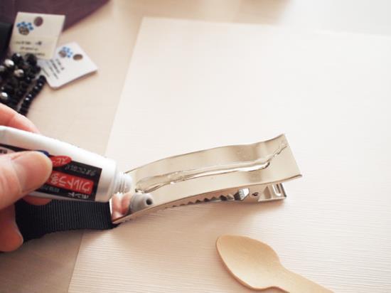 ヘッドアクセサリーの作り方の手順写真