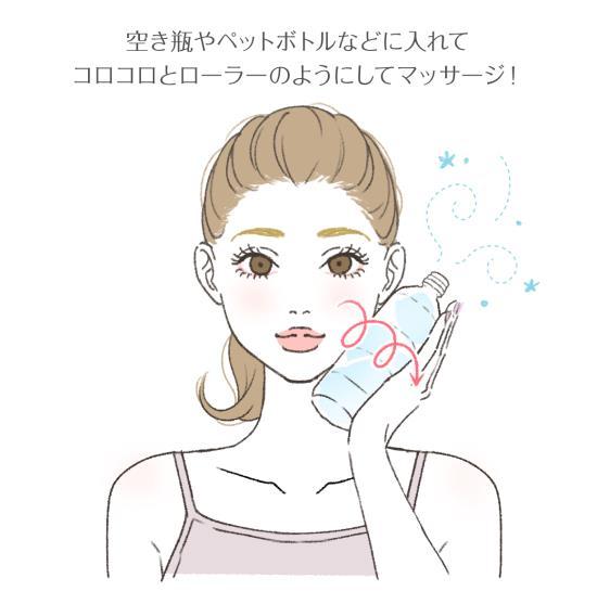 空き瓶を使ってコロコロ氷マッサージ