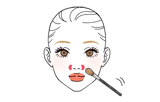 小鼻周りの影を消す方法