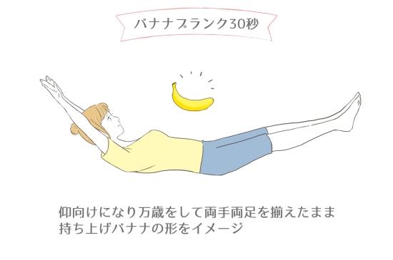バナナプランク30秒