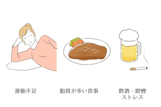 内臓脂肪がつく原因