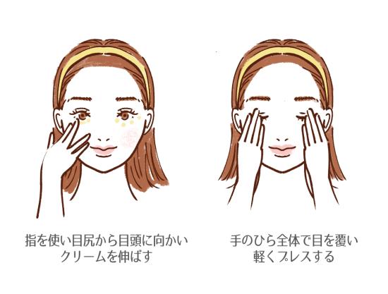 目元のマッサージ方法